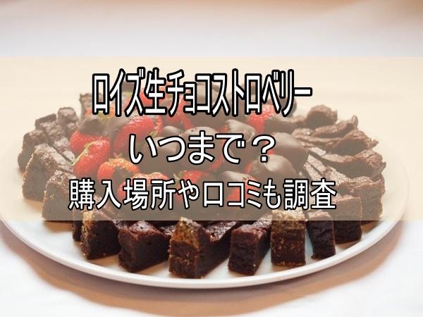 イチゴとチョコのケーキ